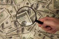 Contrôle de l'argent Image libre de droits