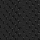 contrôle de papier foncé Dot Wave Frame de la géométrie de l'art 3D illustration stock