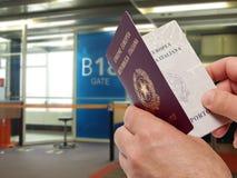 Contrôle de passeport Images stock