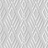 contrôle Diamond Cross Geometry Frame d'art du livre blanc 3D Images stock