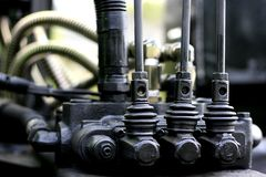Contrôle hydraulique Image stock