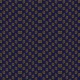 Contrôle sans couture antique Dot Wave Frame de la géométrie de fond Photographie stock libre de droits