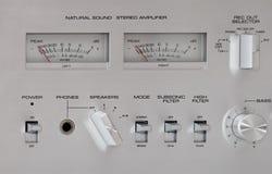 Contrôles analogiques d'enregistrement sonore photographie stock libre de droits