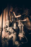 Contrôles de locomotive à vapeur images libres de droits