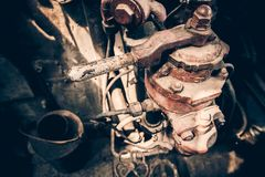 Contrôles de locomotive à vapeur photographie stock libre de droits