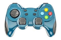 Contrôleur bleu de jeu, rendu 3D illustration stock