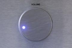 Contrôleur de volume en aluminium avec la lumière Photo libre de droits
