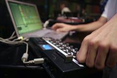 Contrôleur du Midi - DJ 5 Images stock