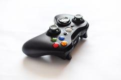 Contrôleur noir de jeu vidéo Photographie stock