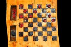 Contrôleurs sur un rondin en bois Photos libres de droits
