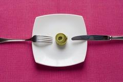 Contrôlez ce que vous mangez photographie stock libre de droits