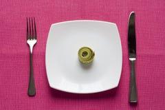 Contrôlez ce que vous mangez images stock