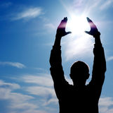 contrôlez le soleil Photo libre de droits