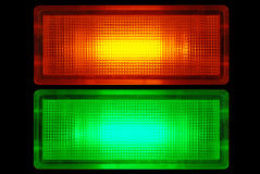 Contrôlez les lampes images stock