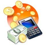 Contrôlez votre flux de liquidités de financement illustration libre de droits