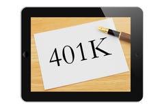 Contrôlant votre 401k en ligne Photographie stock libre de droits