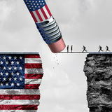Contrôle aux frontières des Etats-Unis Images libres de droits