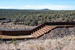 Contrôle d'érosion dans le désert de l'Arizona image libre de droits