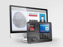 Contrôle d'accès - scanner 2 d'empreinte digitale illustration libre de droits