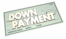 Contrôle d'argent liquide d'hypothèque de financement de prêt d'acompte illustration de vecteur