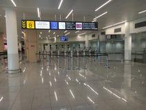 Contrôle de frontière automatisé à l'aéroport de Bruxelles Images libres de droits