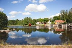 Contrôle de l'eau dans l'environnement de moulin Photo libre de droits