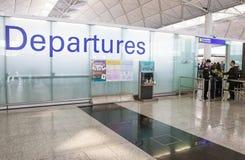 Contrôle de passager à l'aéroport Images stock