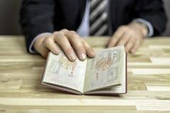 Contrôle de passeport Photographie stock