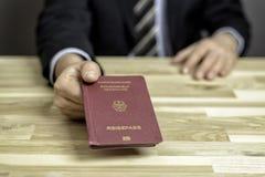 Contrôle de passeport Photos stock