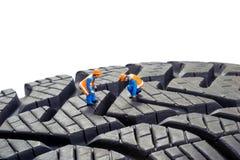 Contrôle de pneu Photos libres de droits