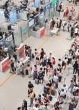 Contrôle de sécurité à l'aéroport international capital de Pékin Image libre de droits