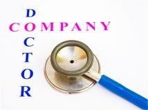 Contrôle de santé par le docteur de compagnie. Image stock