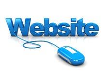 Contrôle de site Web Images stock