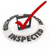 Contrôle inspecté Mark Box Home Inspection Evaluation illustration libre de droits