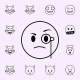 contr?le l'ic?ne Ensemble universel d'ic?nes d'Emoji pour le Web et le mobile illustration stock