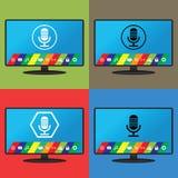 Contrôle Smart TV de voix Image stock