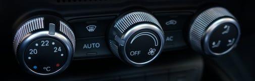 Contrôles de climatisation de véhicule Image stock