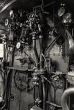 Contrôles de locomotive à vapeur, musée technique national à Prague, photographie stock