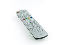 Contrôleur à extrémité élevé argenté moderne de TV Images stock