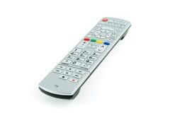 Contrôleur à extrémité élevé argenté moderne de TV Photographie stock libre de droits