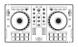Contrôleur d'Usb du DJ illustration libre de droits
