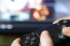 Contrôleur de jeu vidéo de la console Image stock