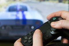 Contrôleur de jeu vidéo de la console Photo stock
