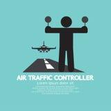Contrôleur de la navigation aérienne Graphic Symbol Photo libre de droits