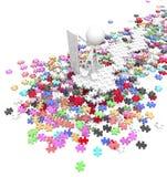 Contrôleur de puzzle denteux Images libres de droits