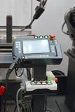 Contrôleur robotique de soudure Photo stock
