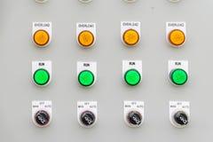 Contrôlez les boutons Photographie stock libre de droits