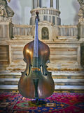 Contra bass made by Niccolò Amati in Cremona 1670 Royalty Free Stock Photos