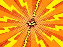 Contra fondo de la plantilla del cómic, introducción de la batalla del super héroe libre illustration