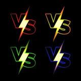Contra iconos del vector Imagen de archivo libre de regalías